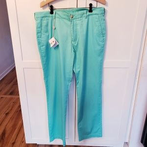 NWT southern tides 34 by 32 teal pants tailored